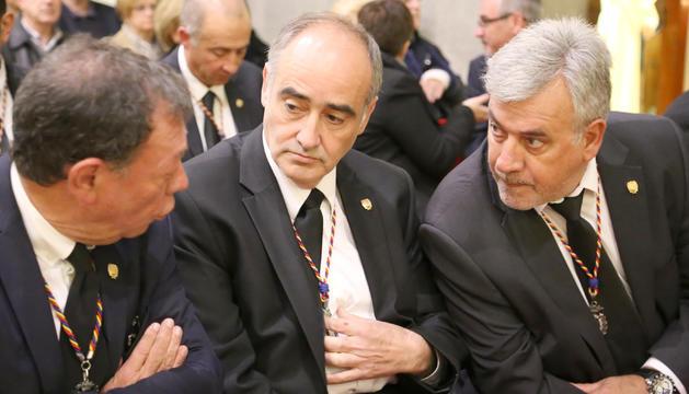 El conseller  Joan Visa en un acte del comú.