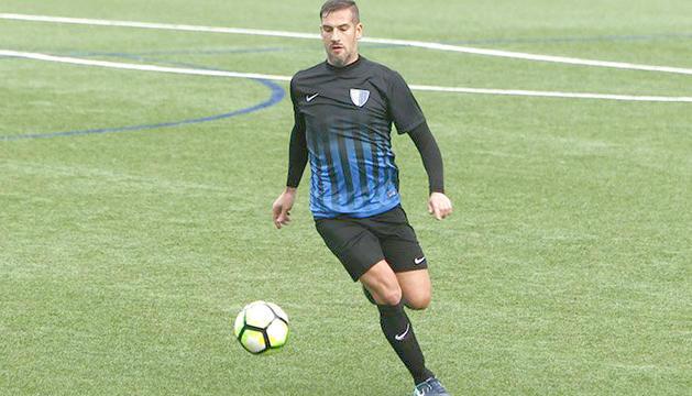 Albert Lopo, en el partit en què va debutar al Campionat.
