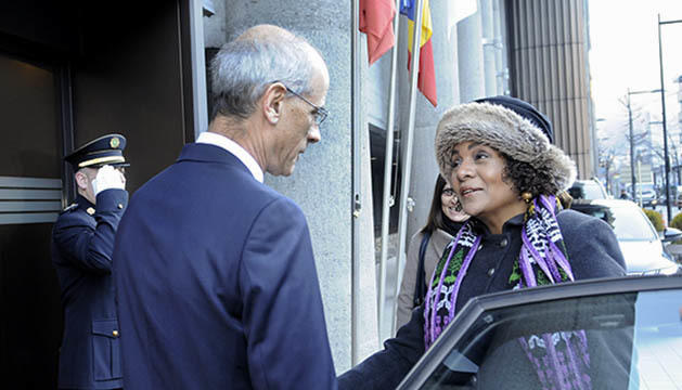 Toni Martí rep Michaëlle Jean aquest matí a Govern