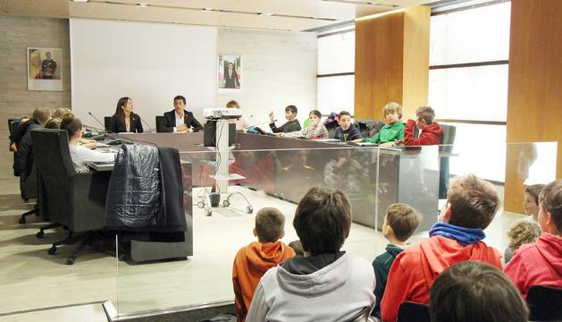 Reunió del Consell d'Infants a Ordino