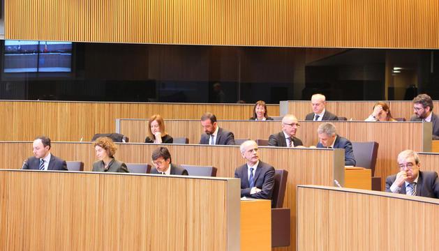 El Govern durant la sessió de Consell General d'aquest matí