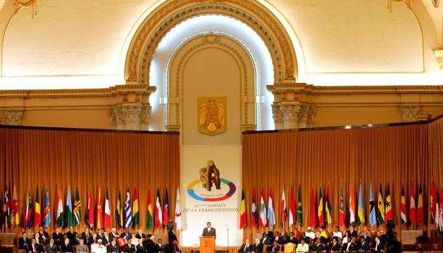 Albert Pintat va ser a Bucarest el 2006, on Andorra es va convertir en membre de ple dret.