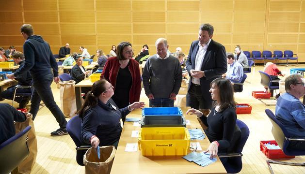 La militància de l'SPD va votar ahir.