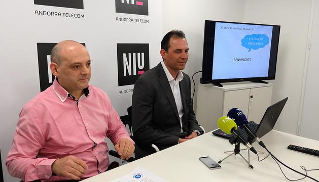 Raül Martín i Miquel Gouarré han presentat aquest matí la nova aplicació