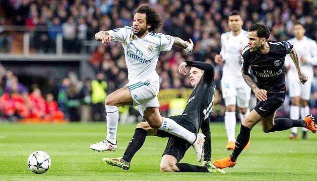 El Reial Madrid va imposar-se per 3 a 1 al partit d'anada al Santiago Bernabéu.
