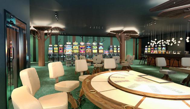 Projecte d'una de les sales de joc del casino