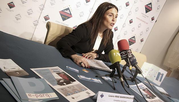 La consellera de Circulació d'Encamp, Laura Mas, ahir.