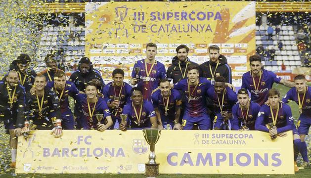 Els blaugrana es van proclamar campions a Lleida.
