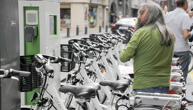 Les bicicletes elèctriques que es van fer servir en la prova pilot del 2014.
