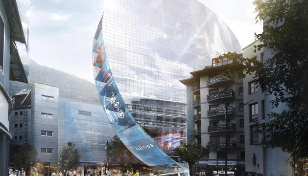 Imatge simulada del futur edifici The Cloud.