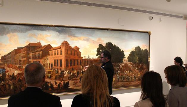 Inauguració de l'exposició actual al Museu Carmen Thyssen Andorra, 'Allées et venues'.