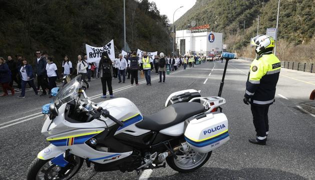 Dispositius policials per garantir la seguretat durant la manifestació