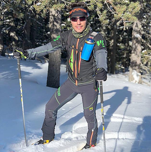 Joaquim 'Purito' Rodríguez fent esquí de muntanya