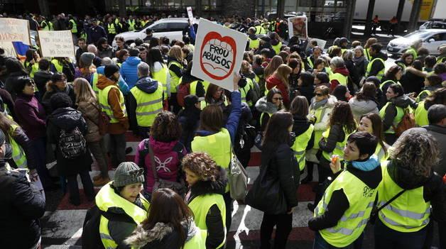 Treballadors públics mobilitzats contra la reforma de la llei de Funció Pública