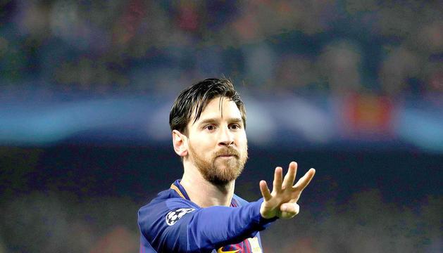 Messi, celebrant un gol.