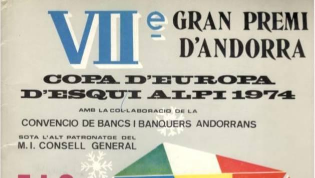 Cartell del VII gran premi d'andorra, l'inici d'Andorra a la Copa d'Europa