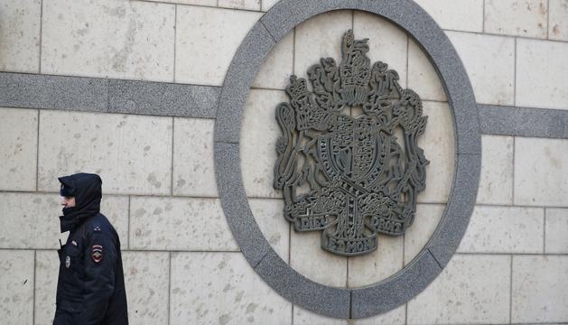 Façana de l'ambaixada britànica a Moscou.