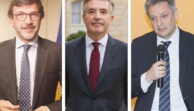 Jordi Cinca, Vicenç Mateu i Gilbert Saboya.