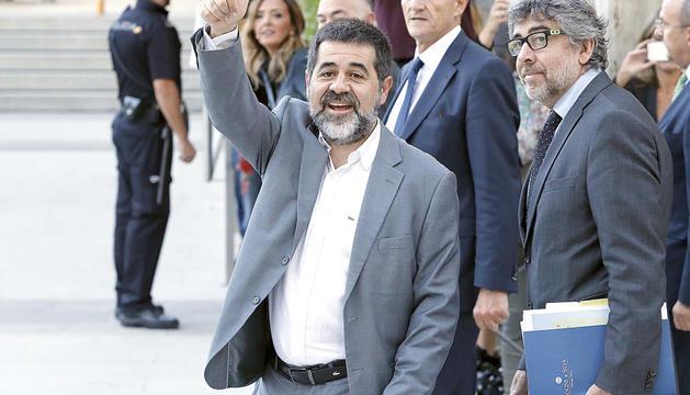 El fins ara candidat de JxCat a president de la Generalitat, Jordi Sànchez, en una imatge d'arxiu.