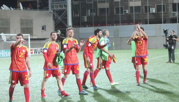 Imatge de la victòria contra Hongria.