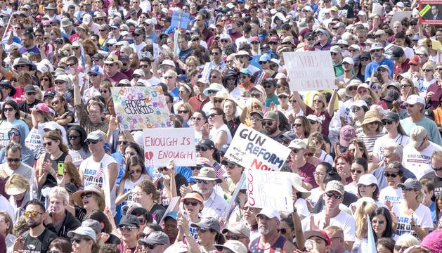 Manifestació pel control d'armes als Estats Units.