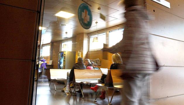 La sala d'espera del servei d'urgències de l'hospital.