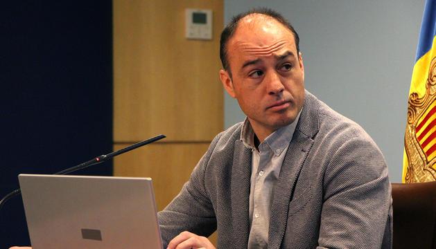 El director del Cos de Banders, Miquel Rossell, durant la roda de premsa de balanç de les actuacions del 2017.