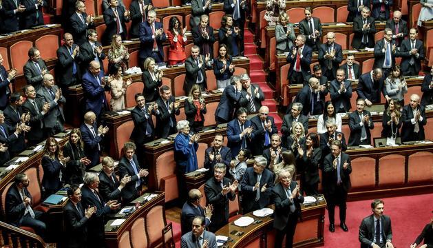 Els senadors italians durant una sessió.
