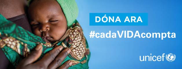 Cartell de la campanya humanitària del 2018 contra la mortalitat neonatal