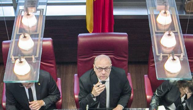 El cònsol major de Canillo, Josep Mandicó, al consell de comú