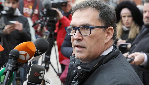 L'advocat de Puigdemont, Jaume Alonso-Cuevillas, ahir.