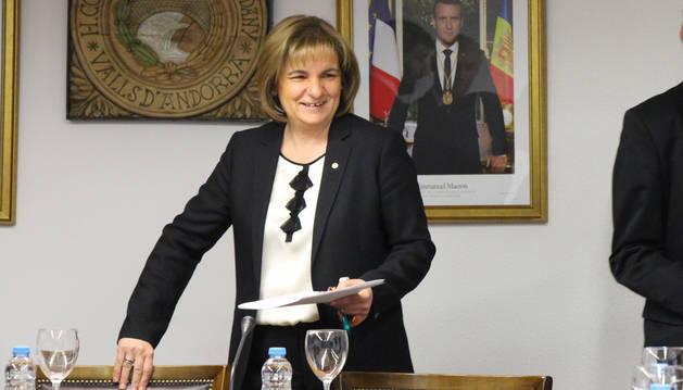 La cònsol major d'Escaldes-Engordany, Trini Marín.