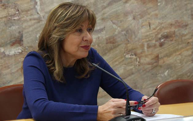 La cònsol major d'Andorra la Vella, Conxita Marsol, durant la roda de premsa d'aquest dijous.