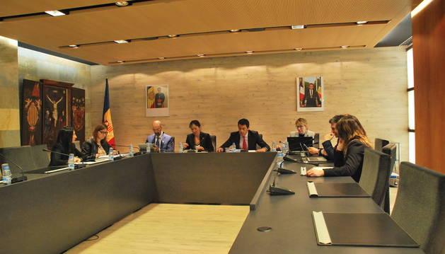 El consell de comú d'Ordino celebrat aquest dijous al migdia