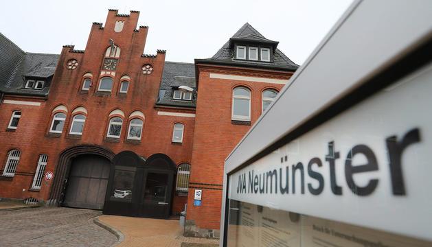 Façana de la presó de Neumüenster, a Alemanya.