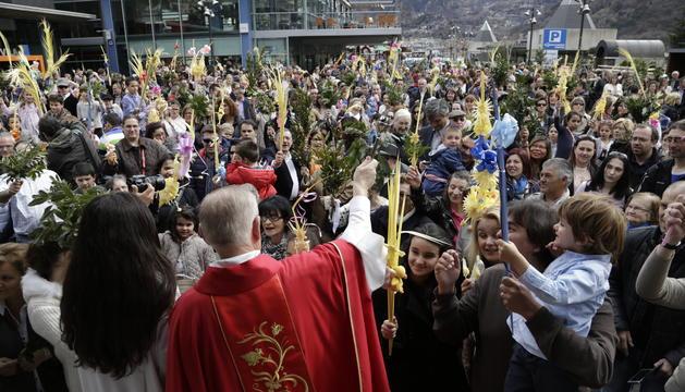 La celebració de diumenge de Rams a Andorra la Vella.