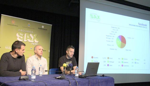 D'esquerra a dreta, Nacho Gascón, Efrem Roca i Jordi Llorens.