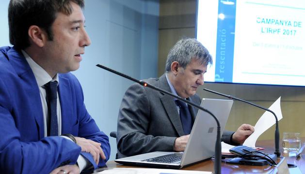 Albert Hinojosa i Miquel Llongueras han presentat la campanya de l'IRPF