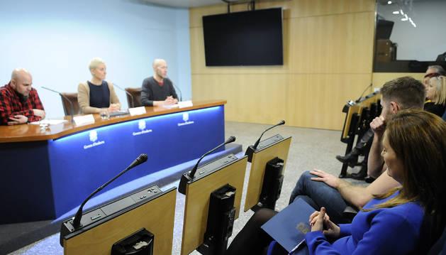 Els directors artístics de l'ENA i la ministra Gelabert presenten la nova temporada de teatre en roda de premsa