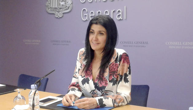 La consellera general d'UL, Carine Montaner.