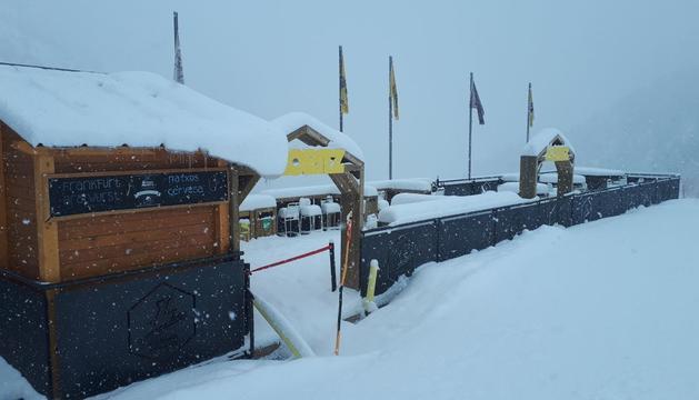 L'estació d'esquí de Vallnord, aquest matí
