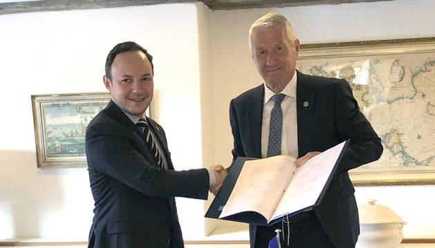 Espot signa el protocol de drets humans a Copenhaguen