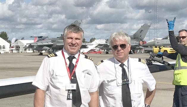 Manel Pinó (dreta) amb el seu soci i també gestor de TSA, Manel Campos (esquerra).
