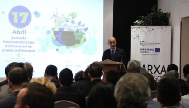 El cap de Govern, Toni Martí, durant la seva intervenció en la jornada