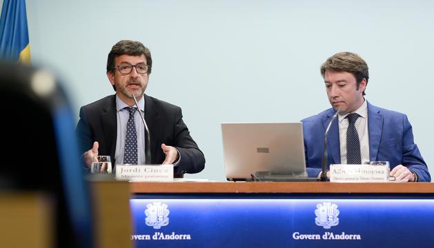 El ministre Jordi Cinca, durant la roda de premsa posterior al Consell de Ministres