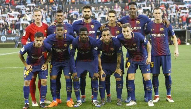 L'alineació del Barça a Vigo al partit de dimarts.