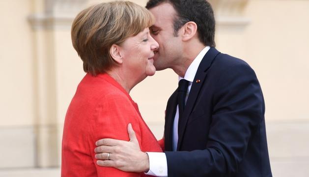 Els dos mandataris durant la trobada d'ahir a Berlín.