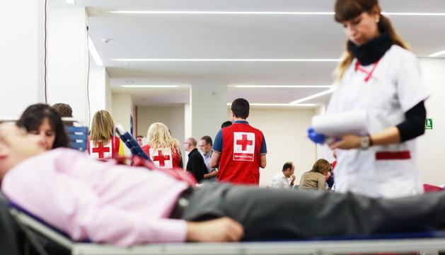 Les donacions de sang es van fer a la sala Àgora del comú de la capital.