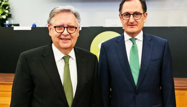 El fins ara conseller delegat, Josep Peralba, i el director general, Xavier Cornella.