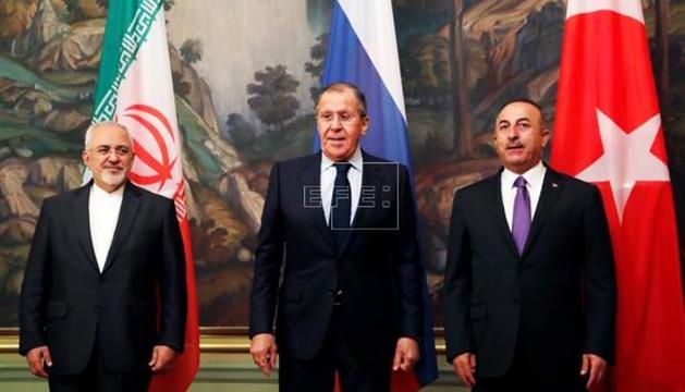 Mohammad Yavad Zarif, Sergei Lavrov i Mevlüt Çavusoglu, ahir.